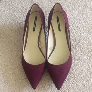 PRE-LOVED ZARA kitten pumps sz 39
